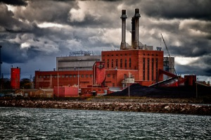 Power Plant on Lake Erie in Dunkirk New York