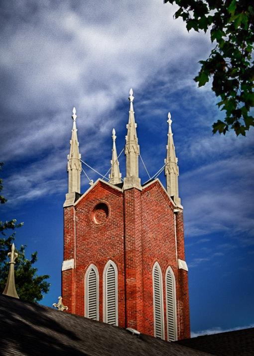 Church Tower Detail HDR-Westfield N.Y.