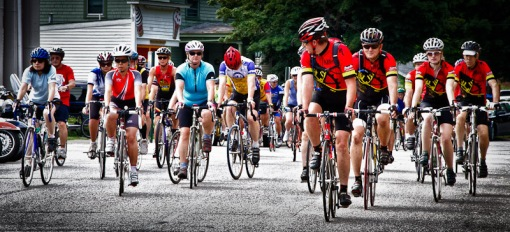 Start of Tour of Chautauqua Bicycle event
