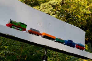 Toy train for composite
