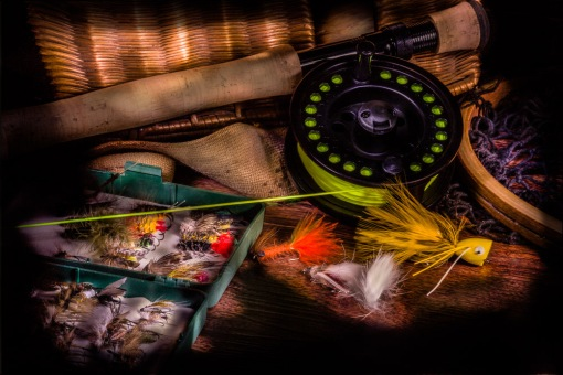 Fly fishing equipment-Lightpainted