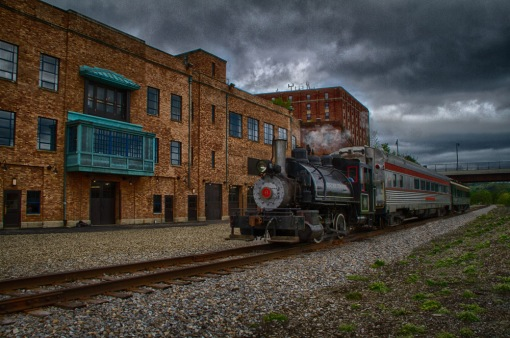 Photo of Train during National Train Day in Jamestown, New York