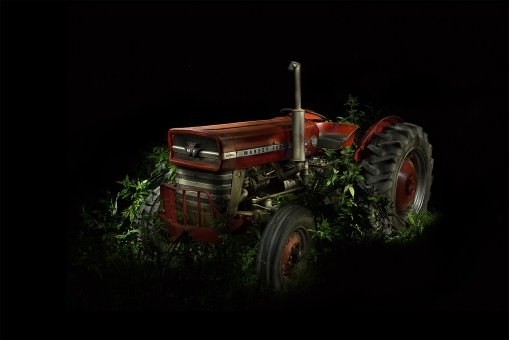 Lightpainted Farm Tractor